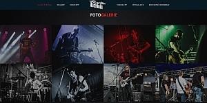 kapela ukázka designu webu