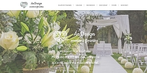 svatební květiny ukázka designu webu
